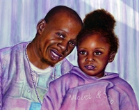 Picture of Father and Daughter Commission